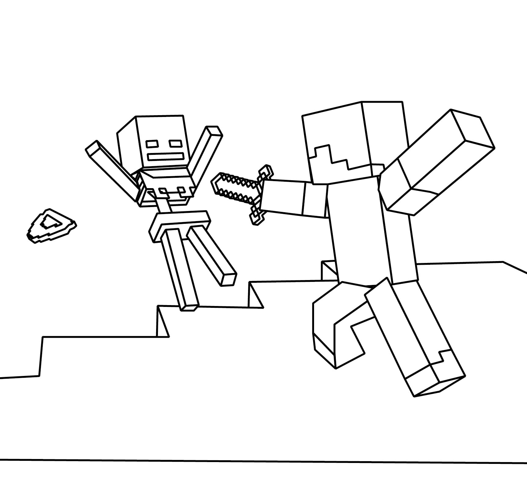 Minecraft World Free Coloring Page Kids Pages With