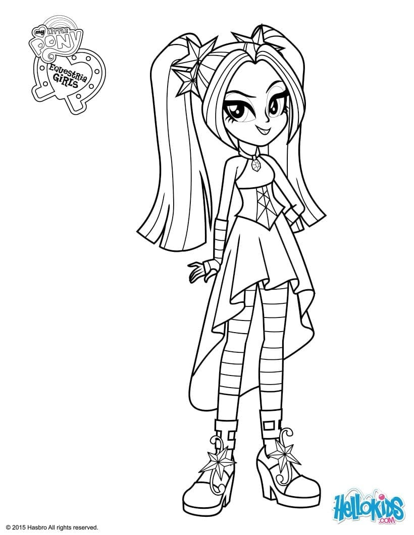 My Little Pony Equestria Girls Rainbow Rocks Coloring Pages