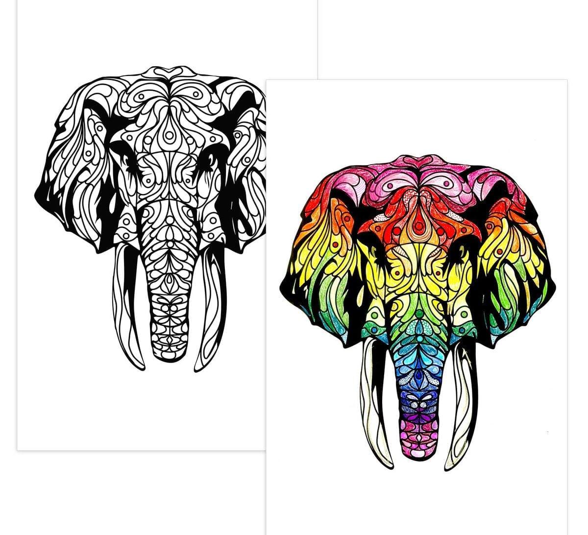 Color Escapes Adult Coloring Kit, Nature