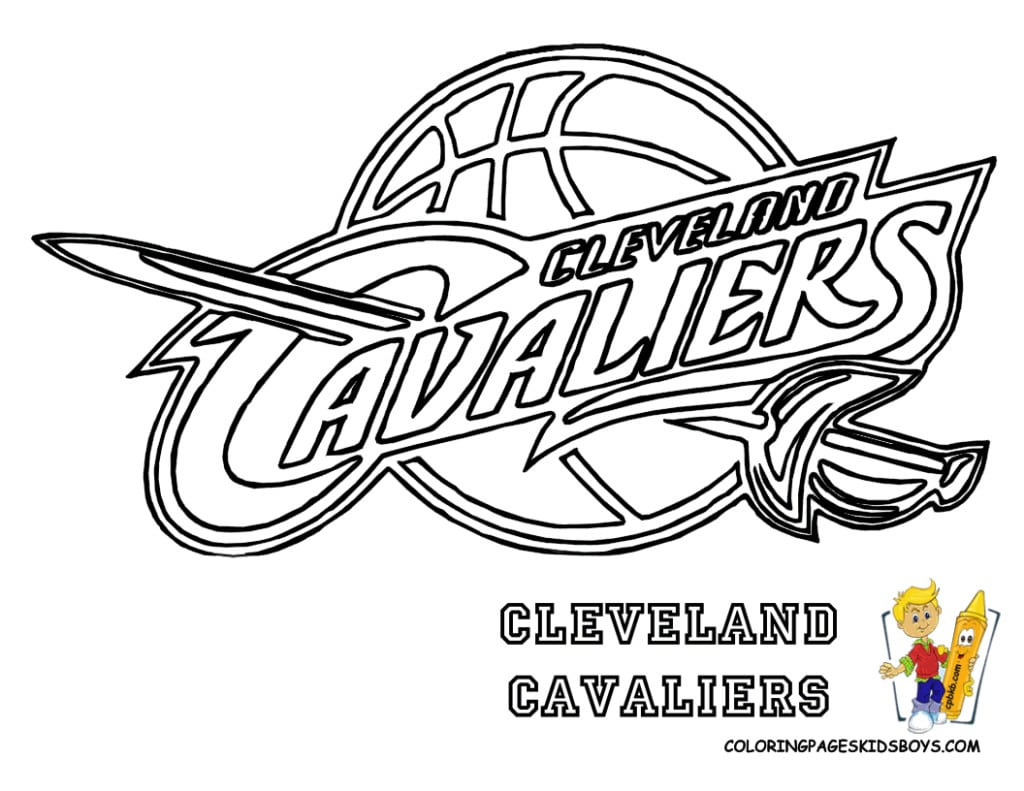Nba Coloring Pages Logos Lebron James Archives New For On