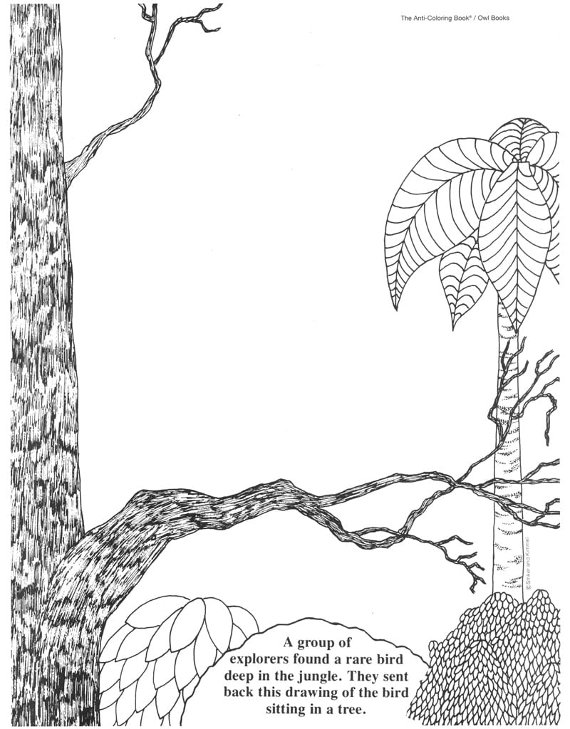 Coloring Pages  The Anti Coloring Book