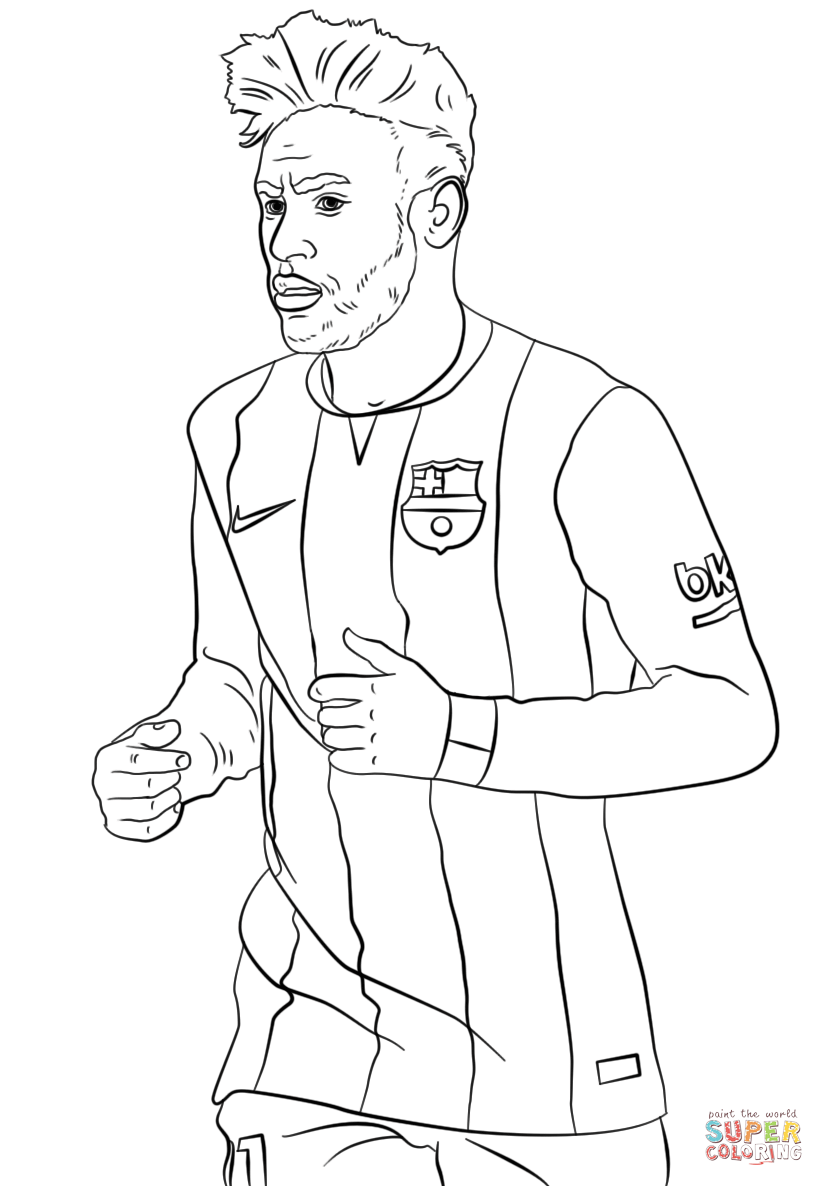 Neymar Coloring Page Free Printable Pages And Messi Auto Market Me