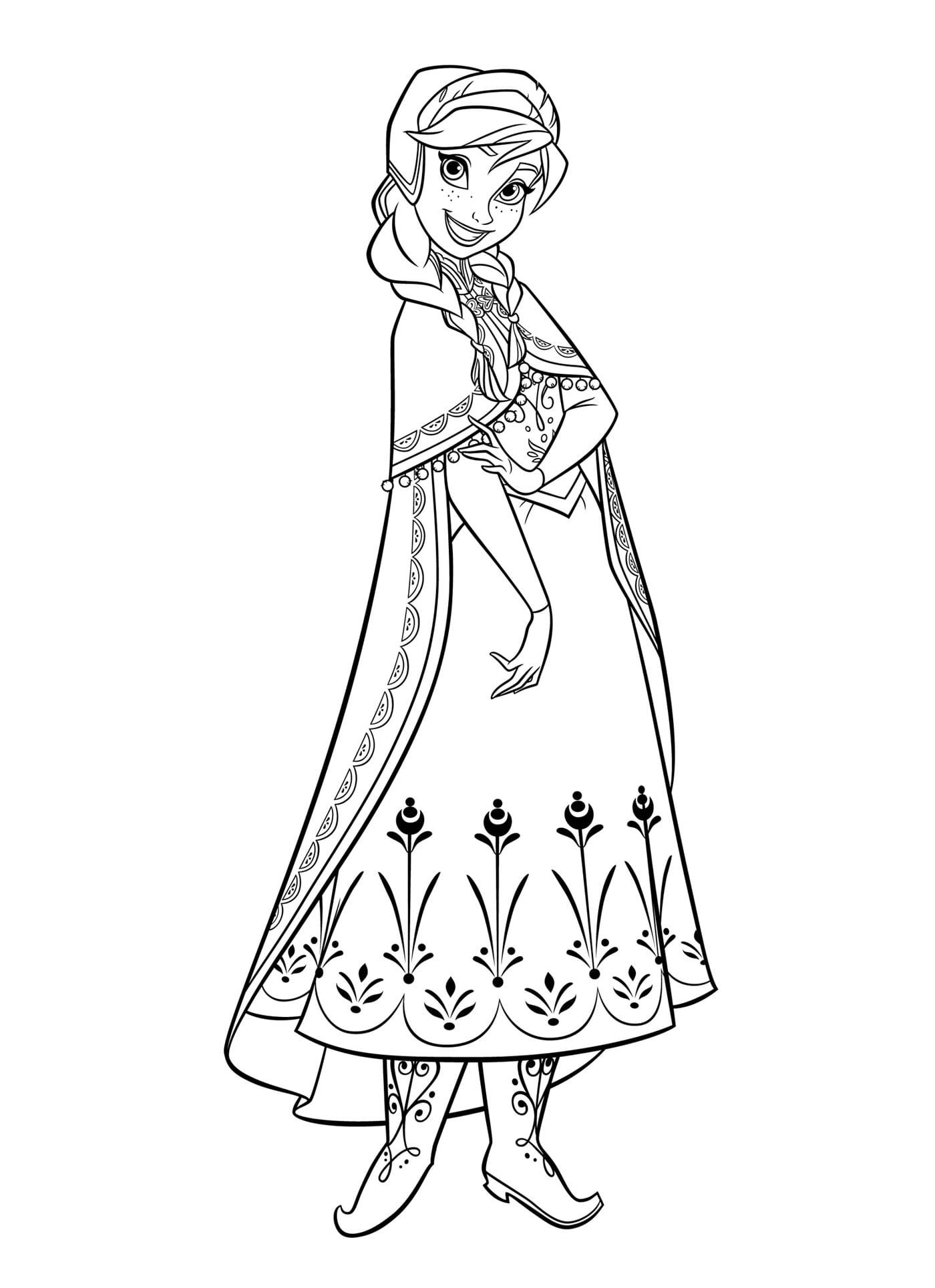 Beautiful Decoration Anna Coloring Pages Frozens Anna Coloring
