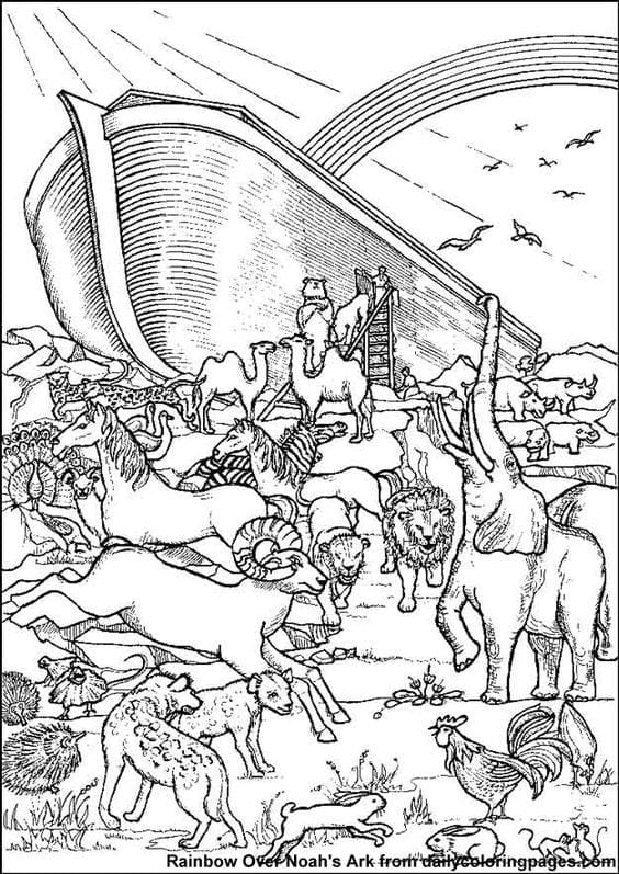 Noah's Ark Coloring Pages Printable Stunning Noah's Ark Coloring