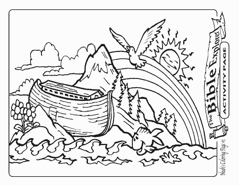 Noah S Ark Bible Coloring Pages What In The New And Page