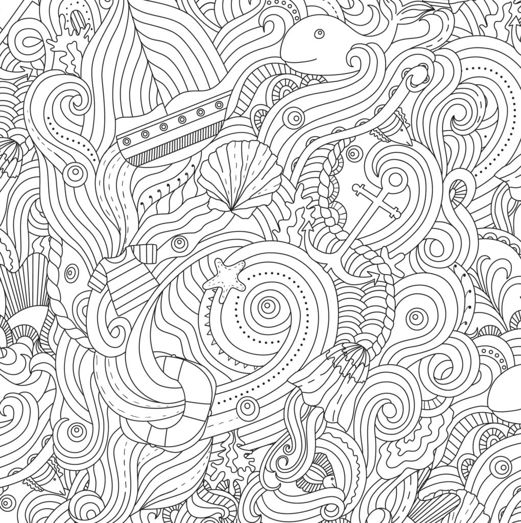 Ocean Coloring Pages For Adults Cool Color Page 8583