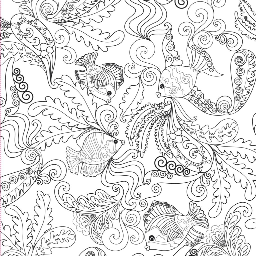 Ocean Coloring Pages For Adults Ocean Designs Adult Coloring Book