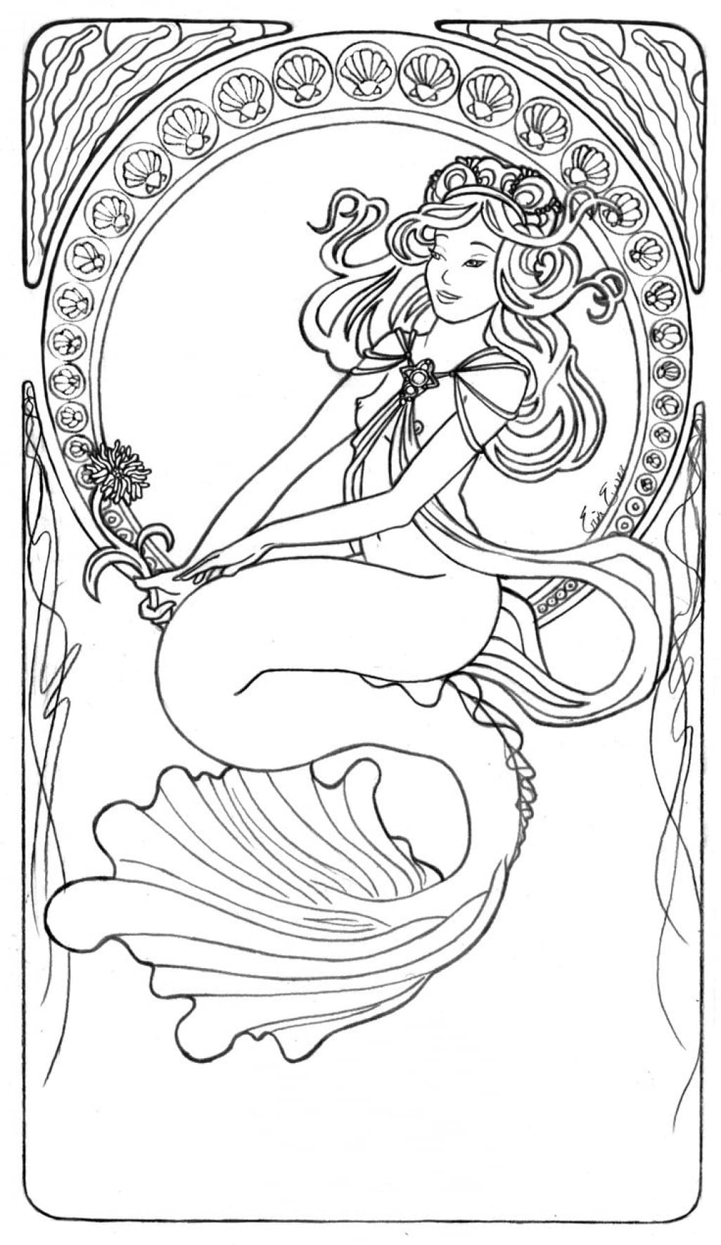 On Art Nouveau Coloring Pages 5a4f80c900740
