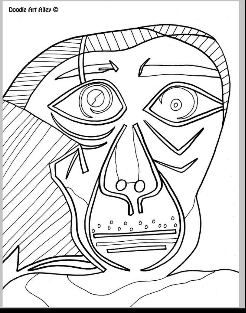 Pablo Picasso Coloring Pages Download