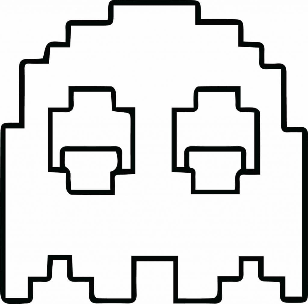 Pac Man Coloring Page Pages Print Color In With Arilitv Pac Pac