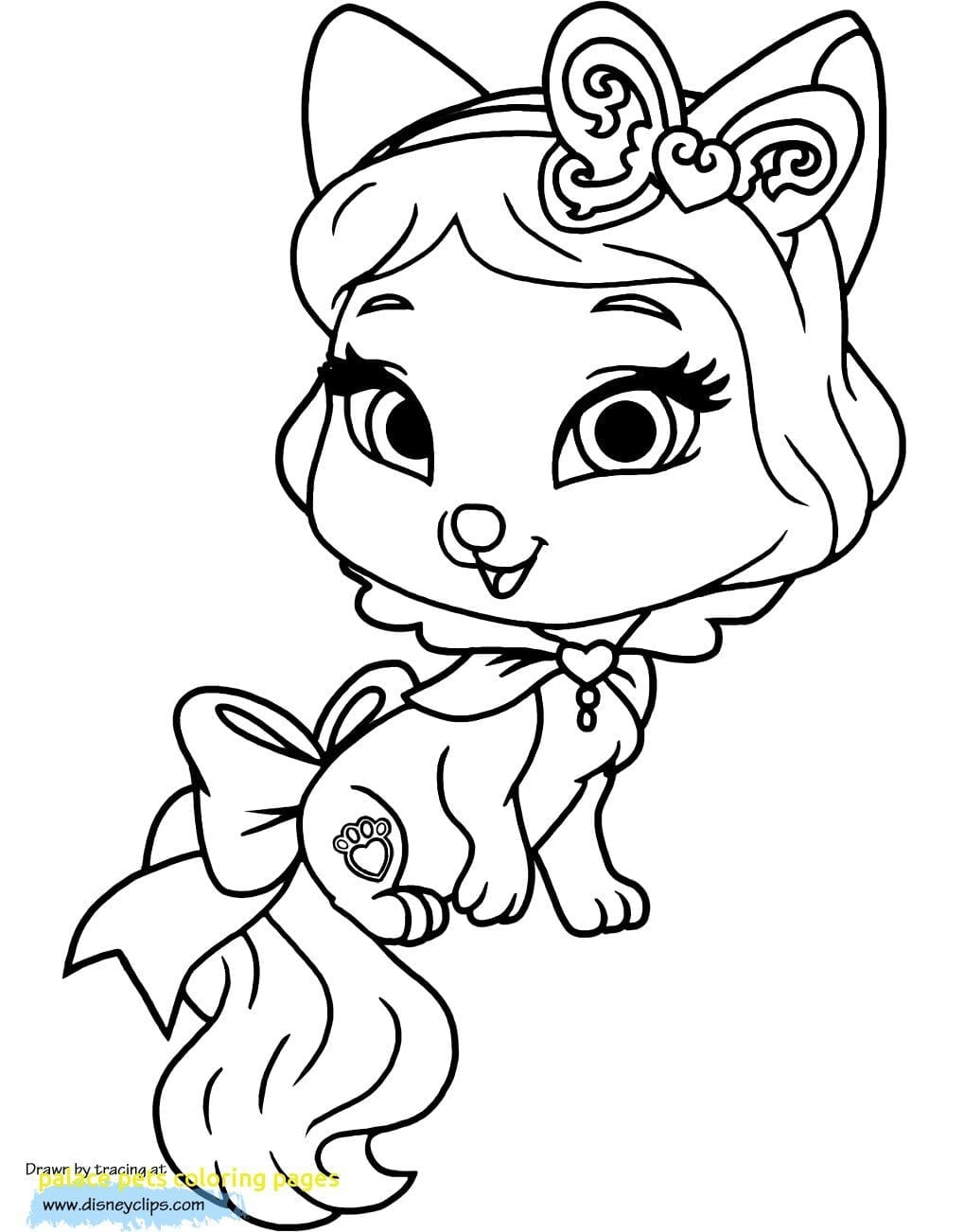 Palace Pets Coloring Pages With Palace Pets Coloring Pages 5