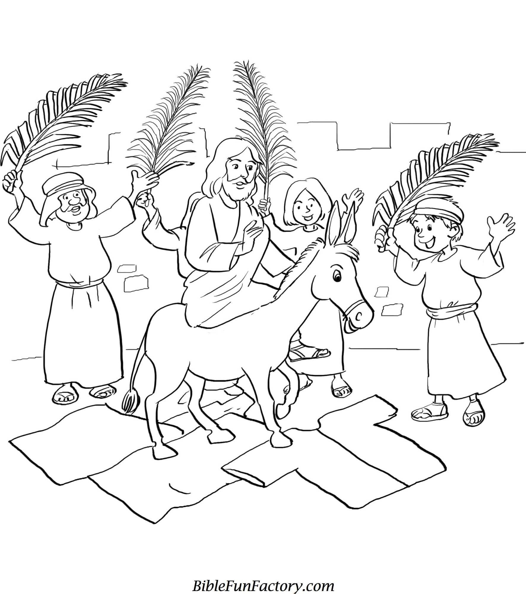 Palm Sunday Coloring Page  6732