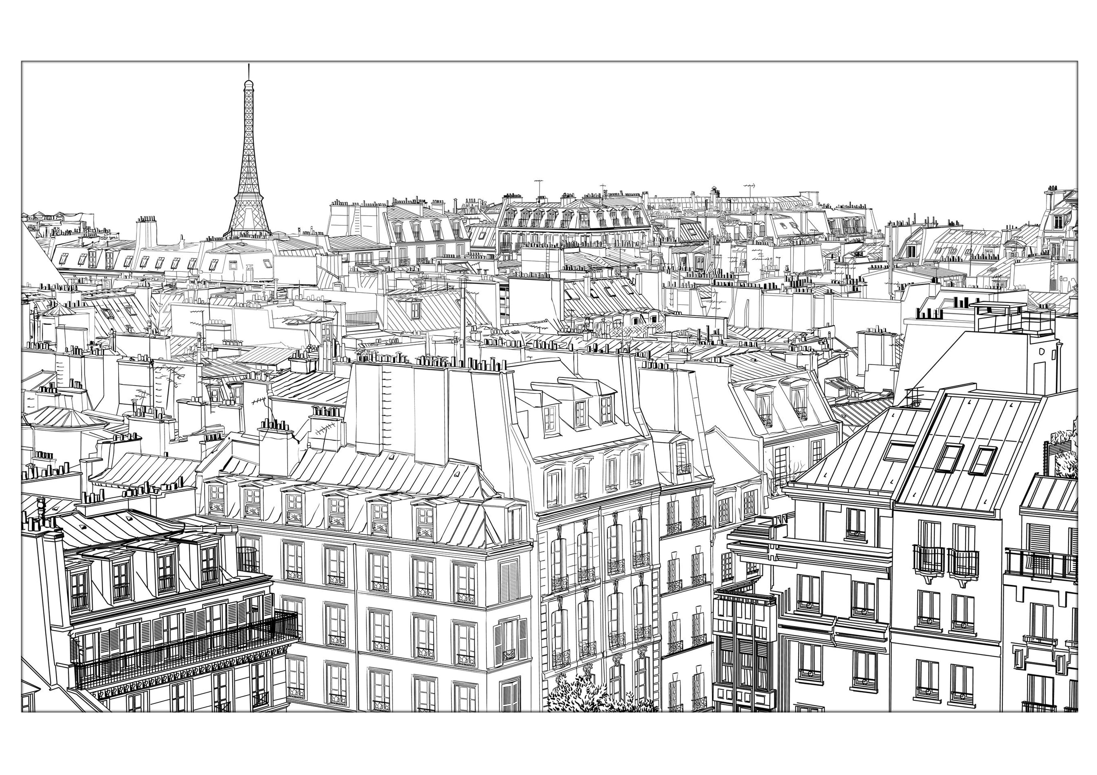 Paris Coloring Pages For Adults Justcolor In