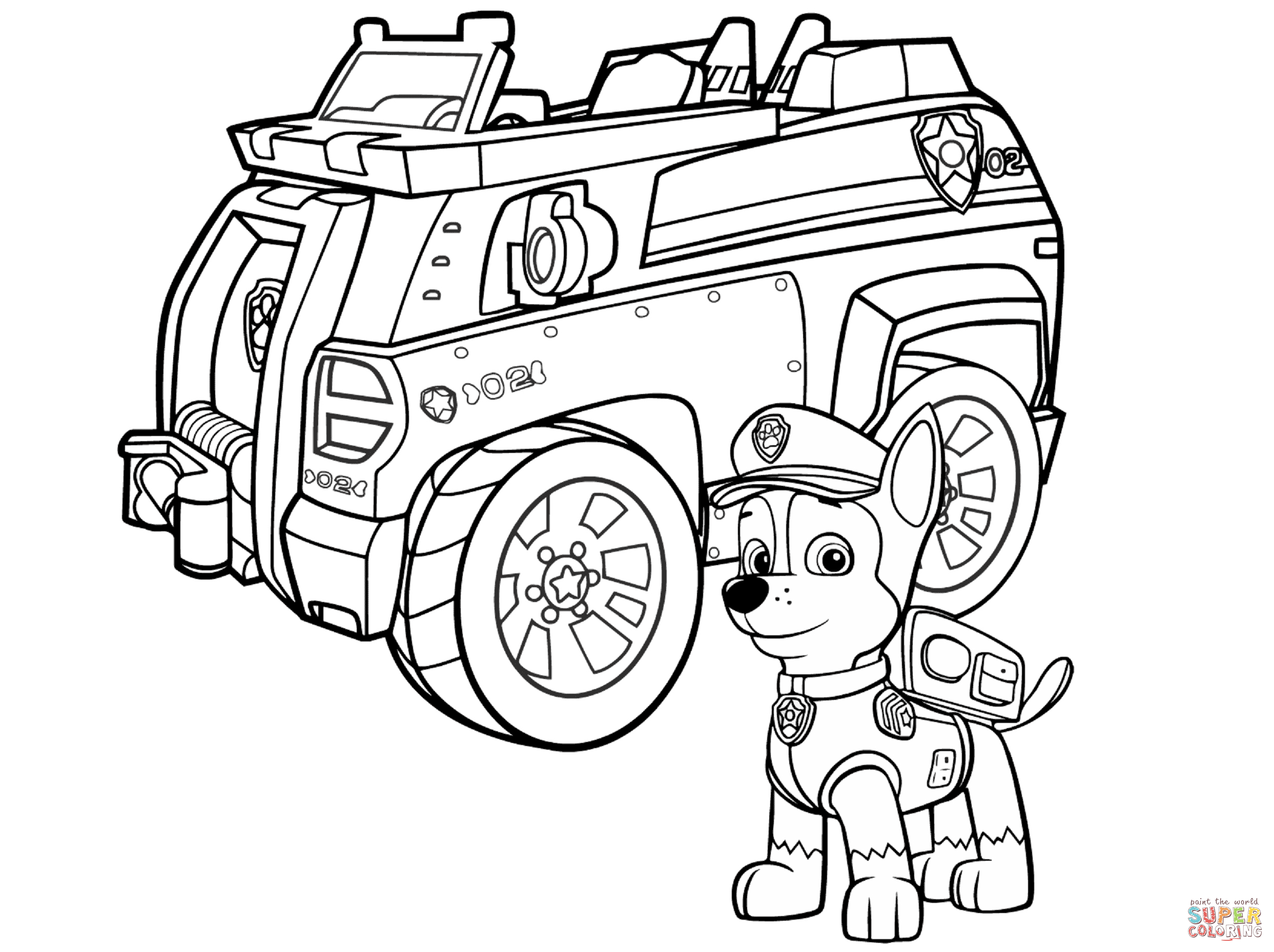 Paw Patrol Coloring Pages Free And Paw
