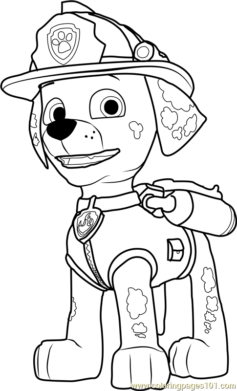 Paw Patrol Marshall Coloring Page Marshall Coloring Page Free Paw
