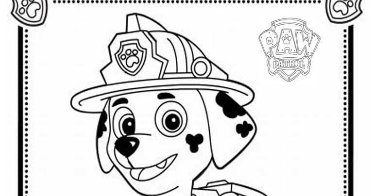 Paw Patrol Marshall Coloring Page