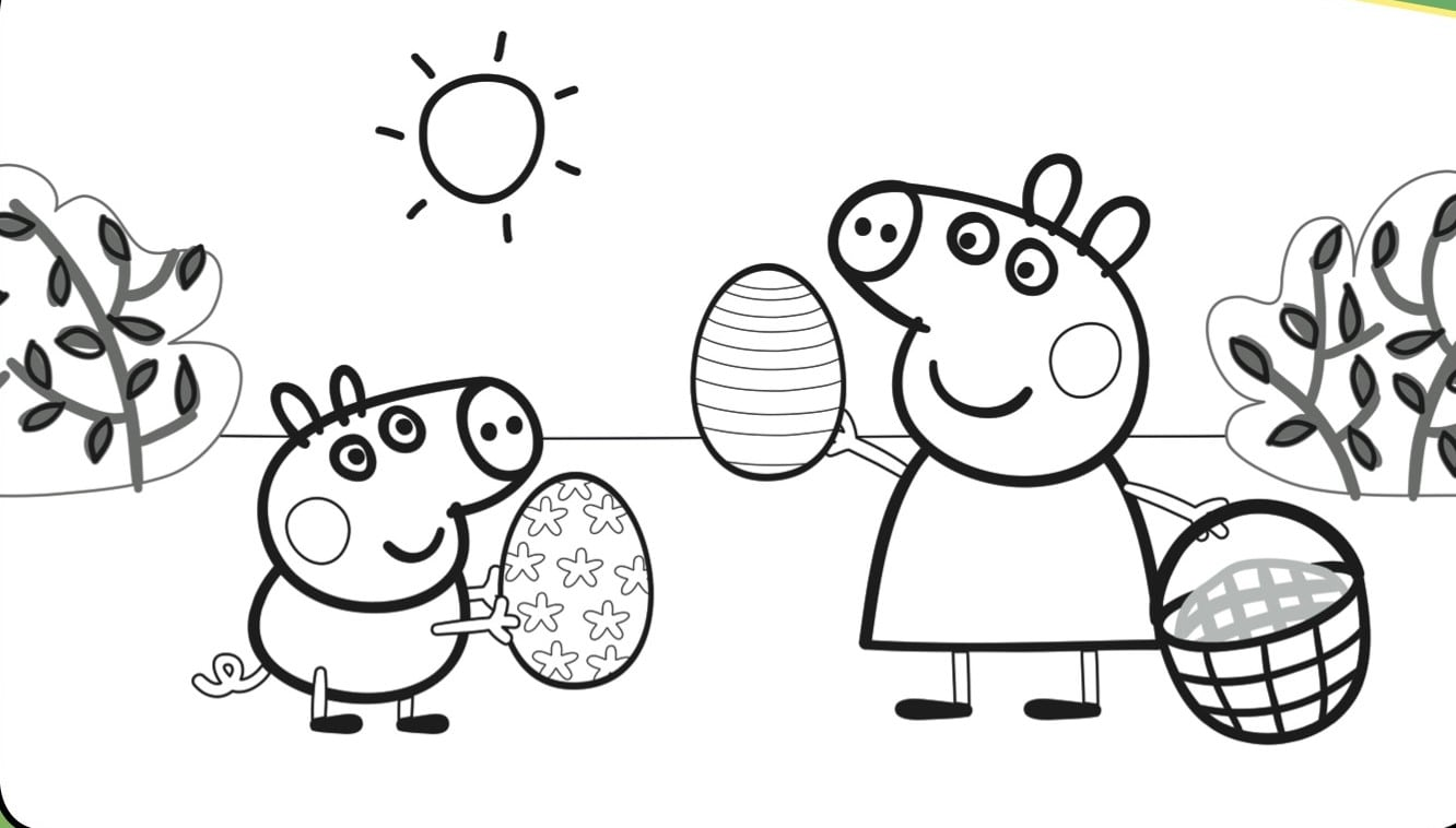 Best Peppa Pig Coloring Pages Free 1763 Printable Coloringace Com