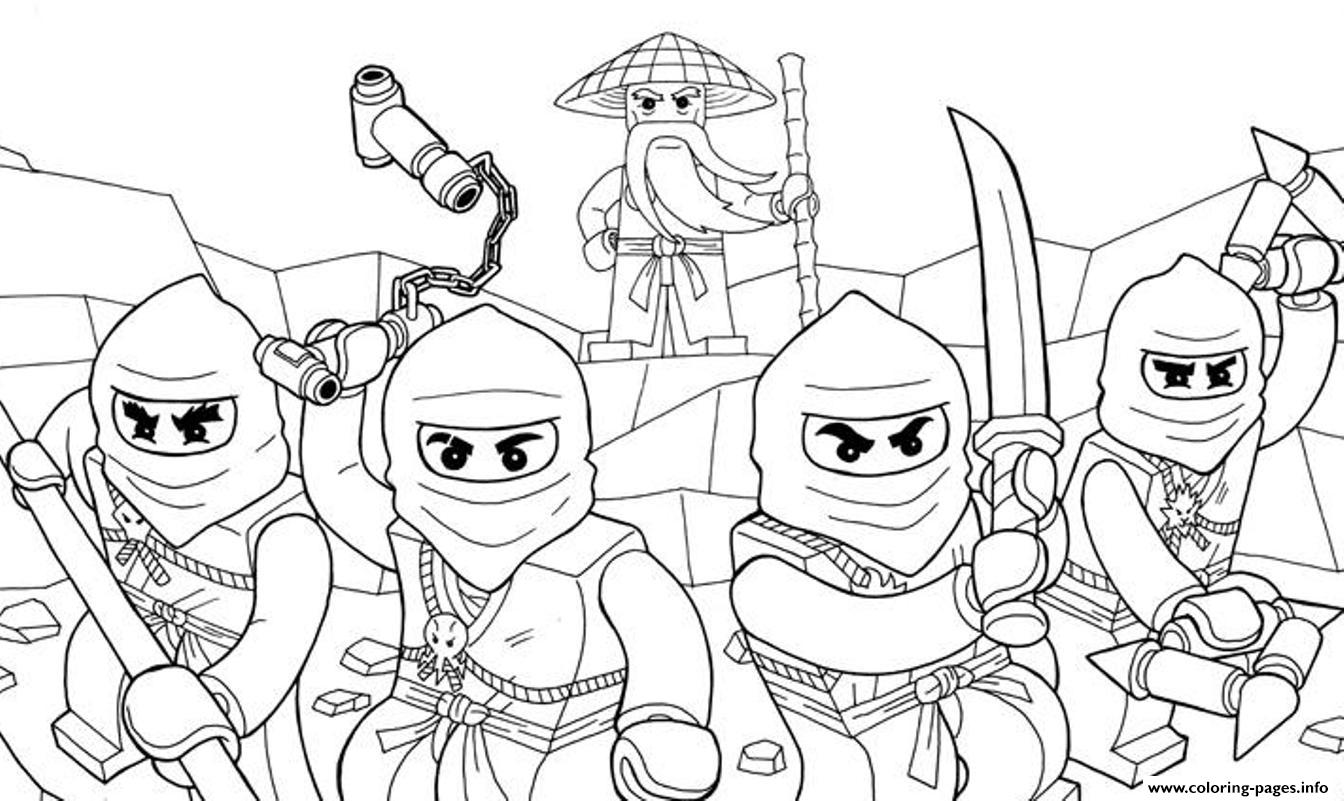 Perfect Decoration Coloring Page Ninjago Lego Ninjago Coloring