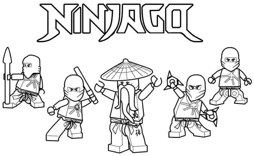 Plain Design Coloring Page Ninjago Top 40 Free Printable Ninjago