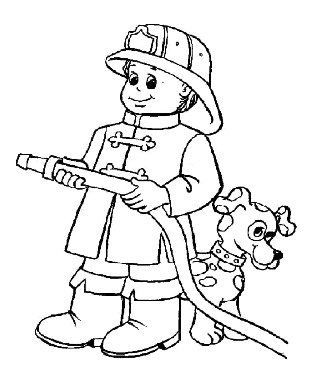 Impressive Fire Fighter Coloring Pages Coloring For Humorous