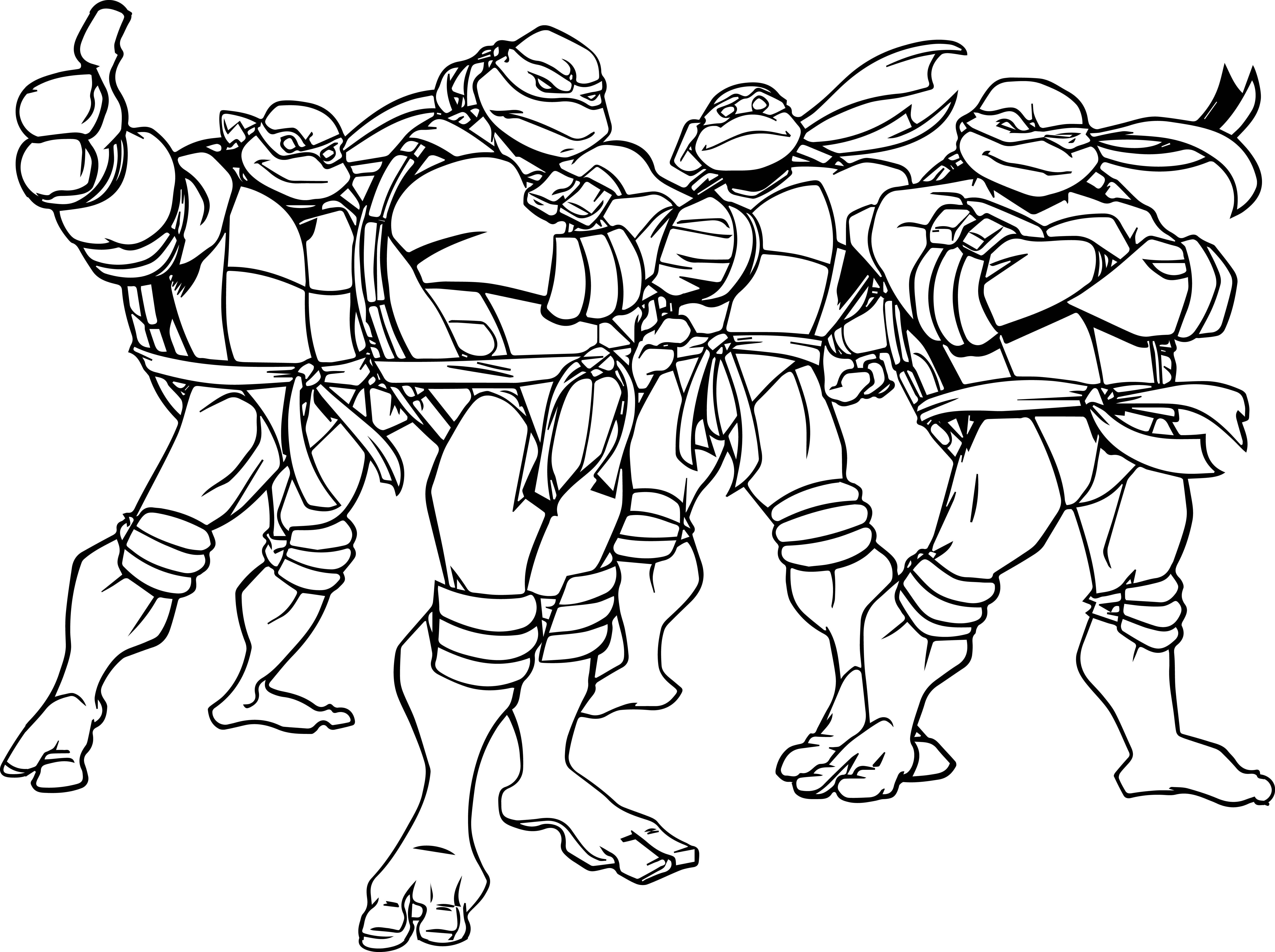 Launching Ninja Turtles Coloring Sheets Teenage Mutant Pages Book
