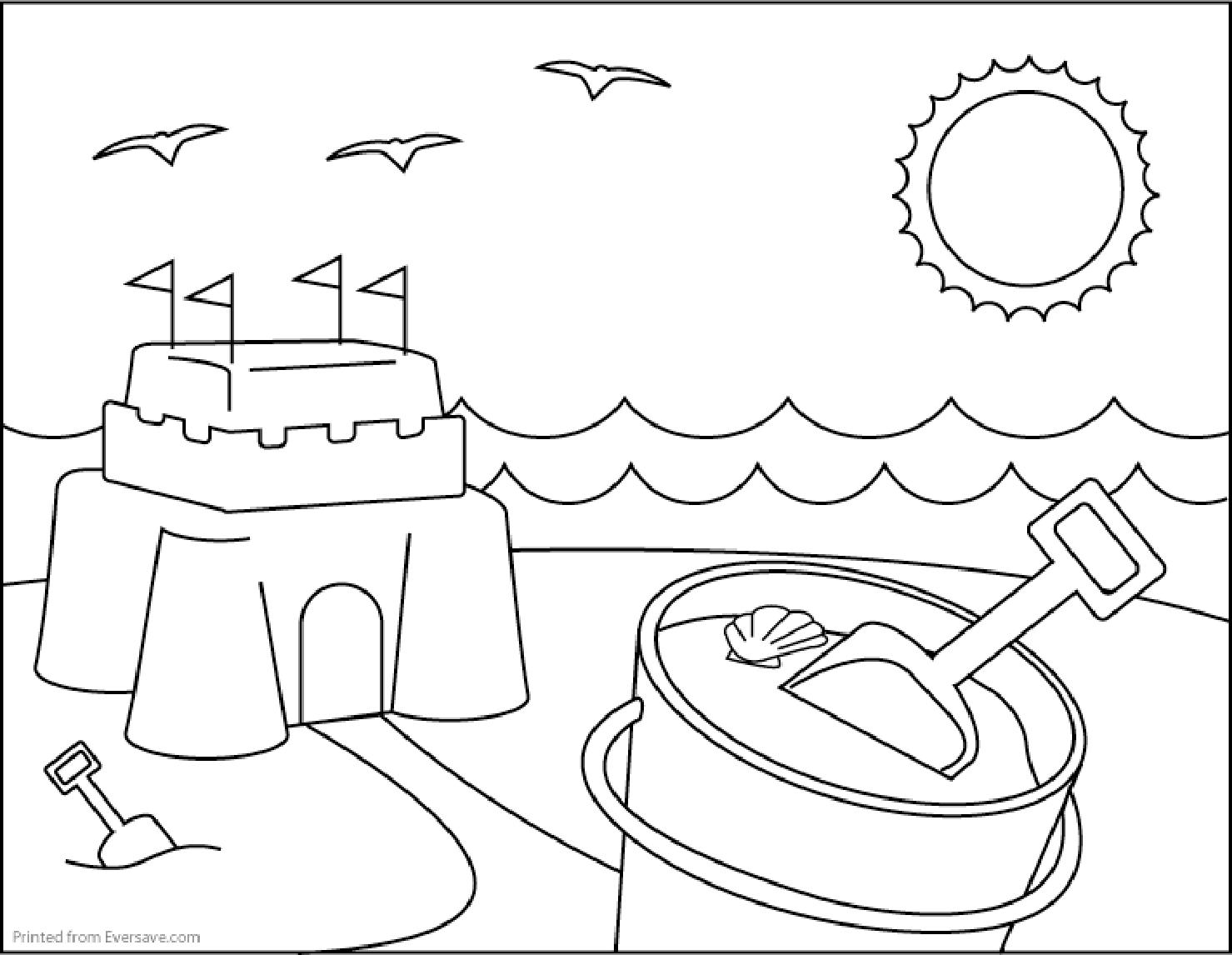 Pioneering Free Printable Summer Coloring Page  23727