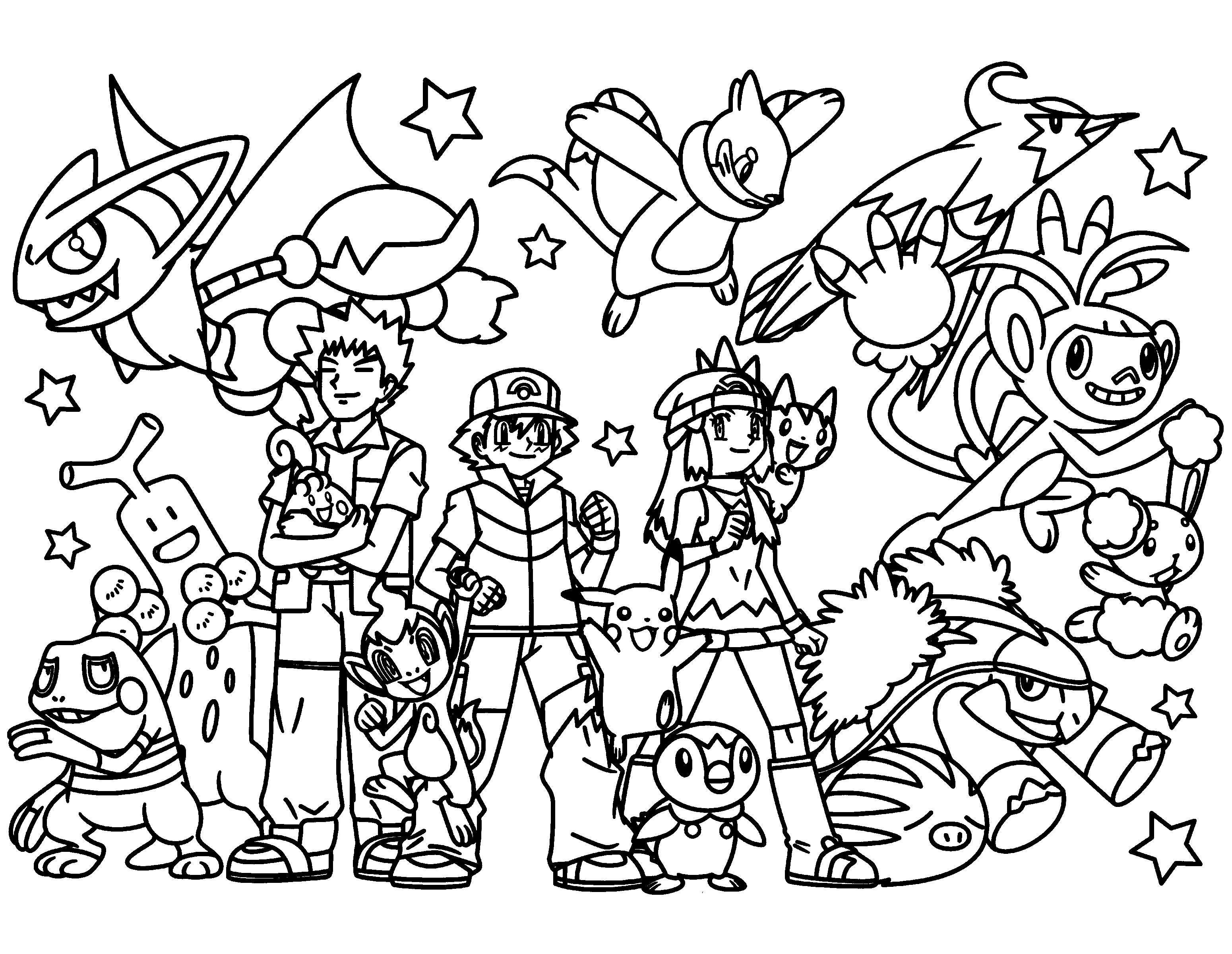 Pokemon Coloring Page Pages