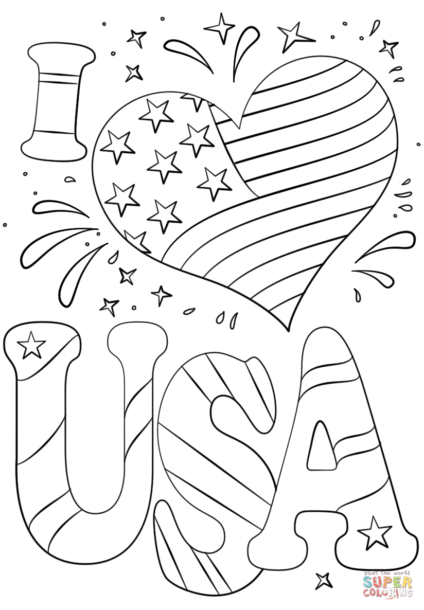 I Love Usa Coloring Pages  22065