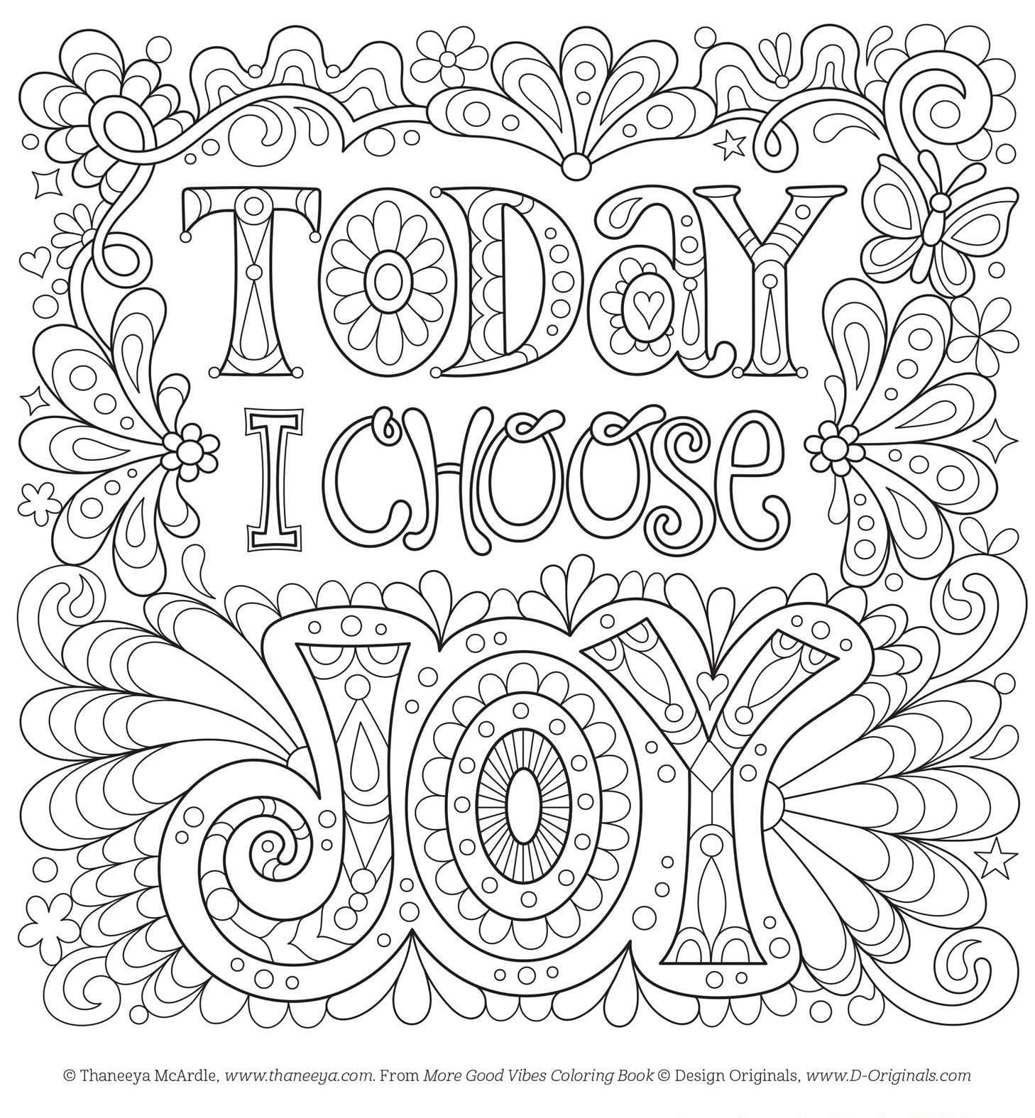 Positive Coloring Pages Free Printable Stay Adult Within – NEO Coloring