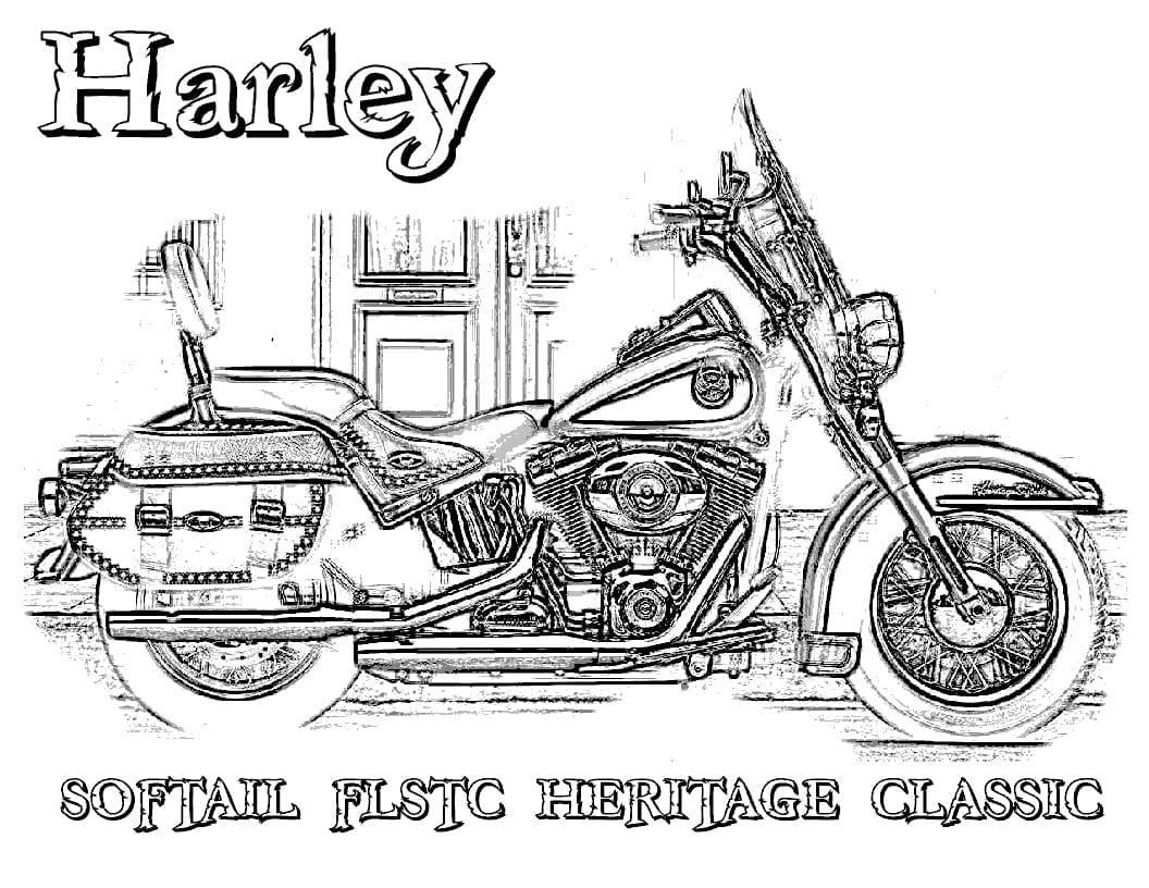 Powerful Printable Harley Davidson Coloring Pa  13579