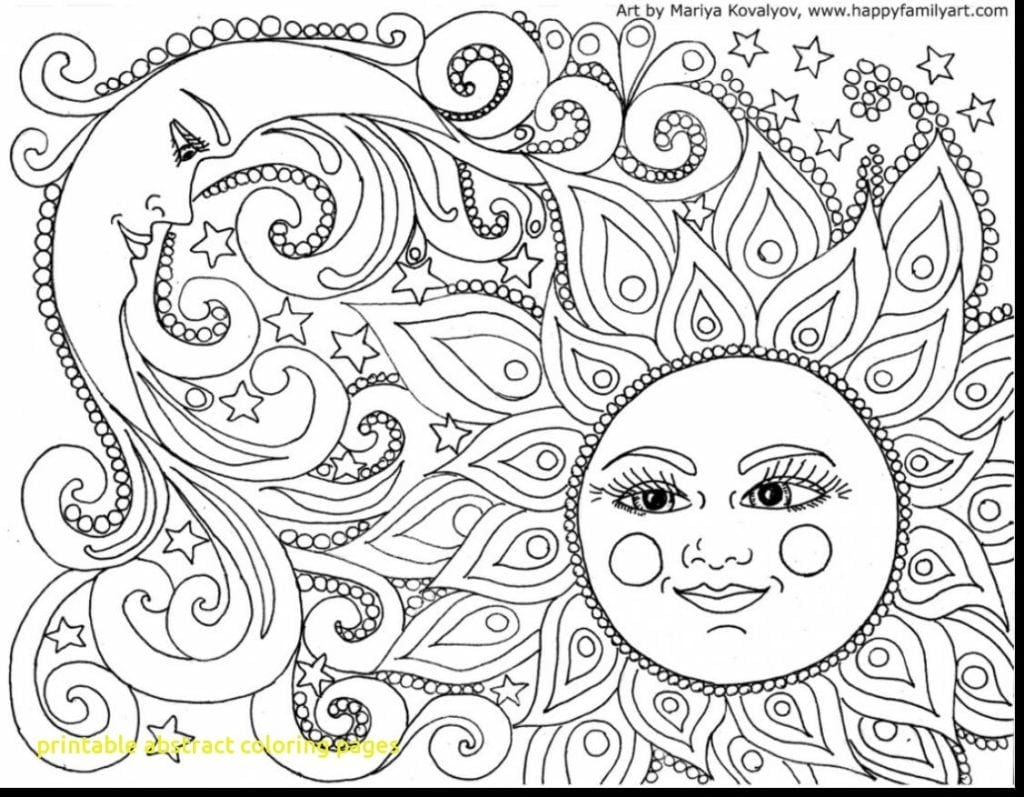 Printable Abstract Coloring Pages With Free Of 6 Fototo Printable