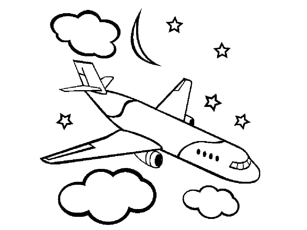 Printable Airplane Coloring Pages For Kids Plane Coloring Page