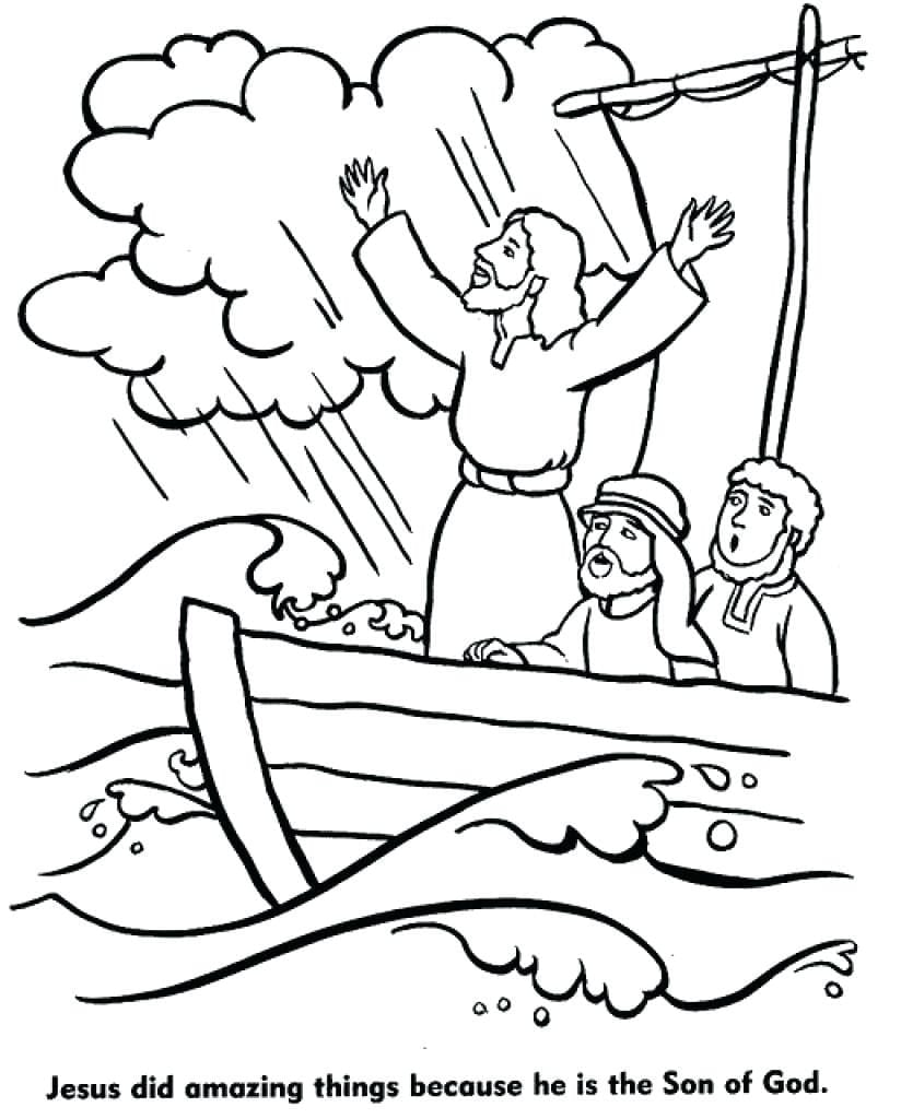 Jesus Calms The Storm Coloring Page With Stilling New – NEO Coloring