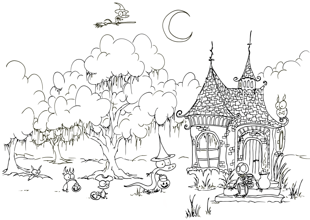 Printable Halloween Coloring Pages Pdf Free Halloween Coloring
