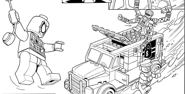 Lego Coloring Pages Got Superheroes