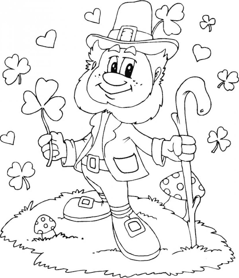 20+ Free Printable Leprechaun Coloring Pages