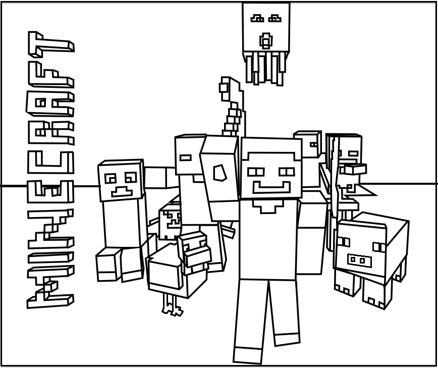 Minecraft Coloring Pages Trend Minecraft Coloring Pages