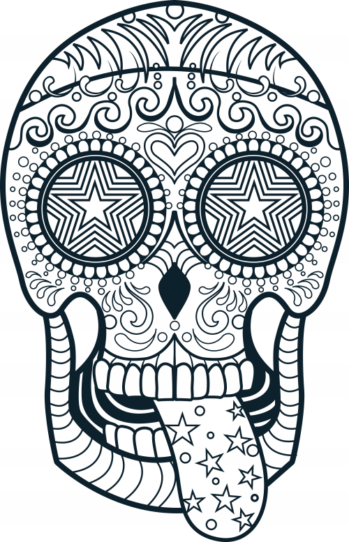 Beautiful Skull Printable Coloring Pages Photos