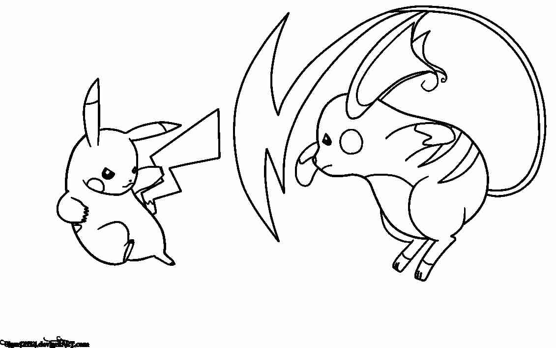 Printable Pictures Pokemon Coloring Pages Additional Ra Raichu