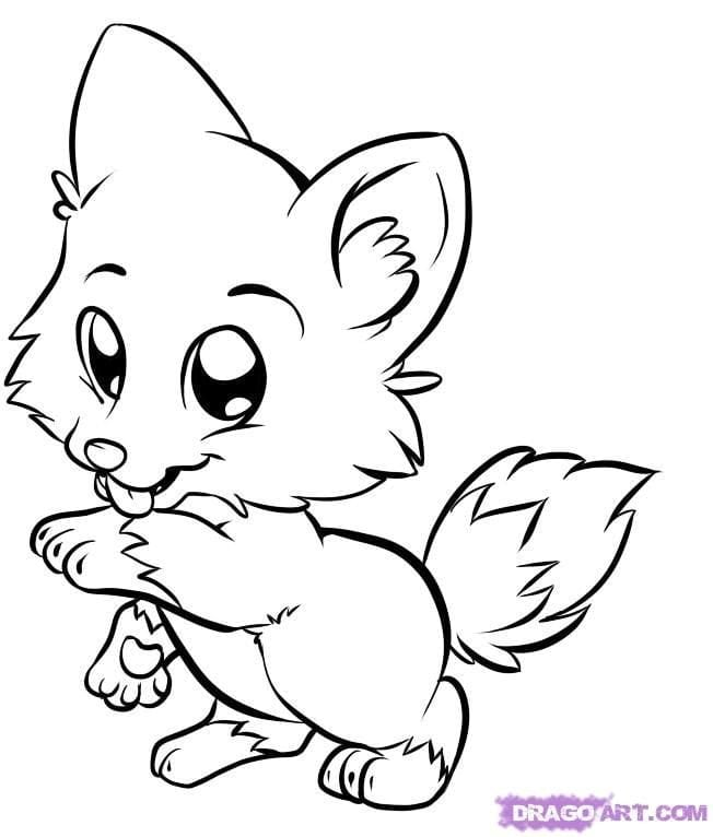 Proven Baby Fox Coloring Pages Baby Fox Coloring Pages 7