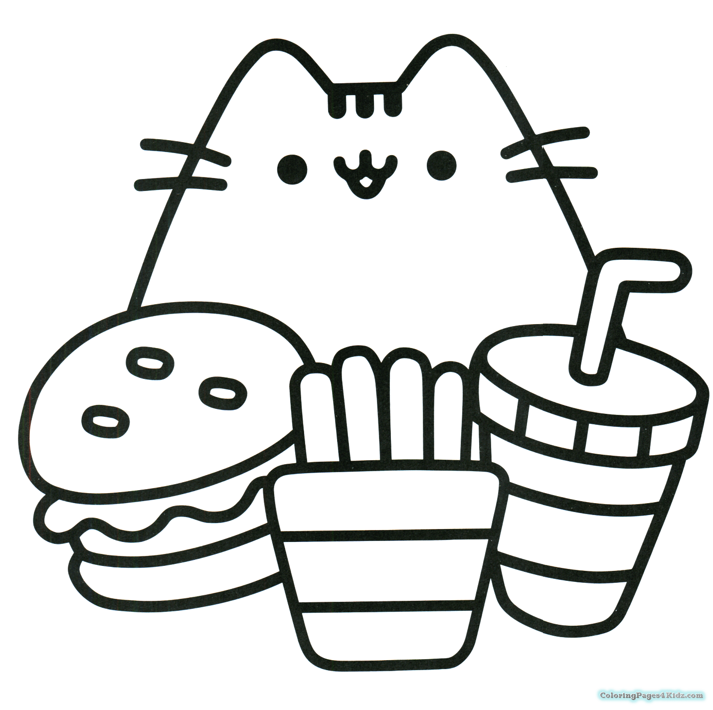 Pusheen Coloring Pages Qqa Me For