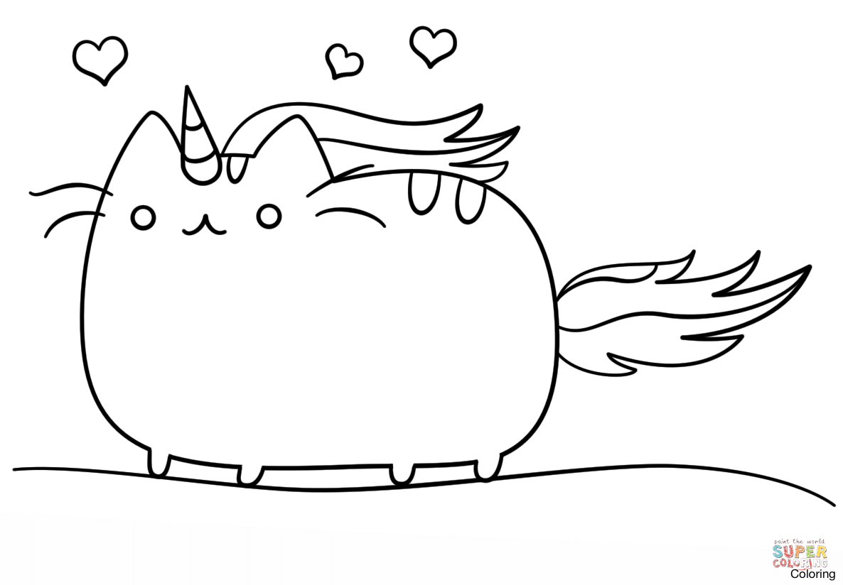 Pusheen The Cat Coloring Pages Book 12f Kawaii To Print Christmas