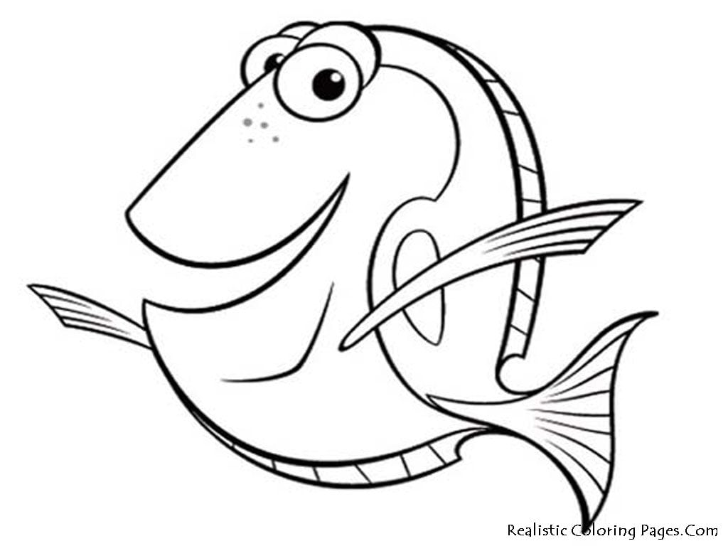Quality Dory Coloring Pages 6 Of With And
