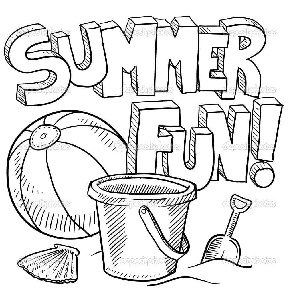 Summer Coloring Pages For Preschool  2622