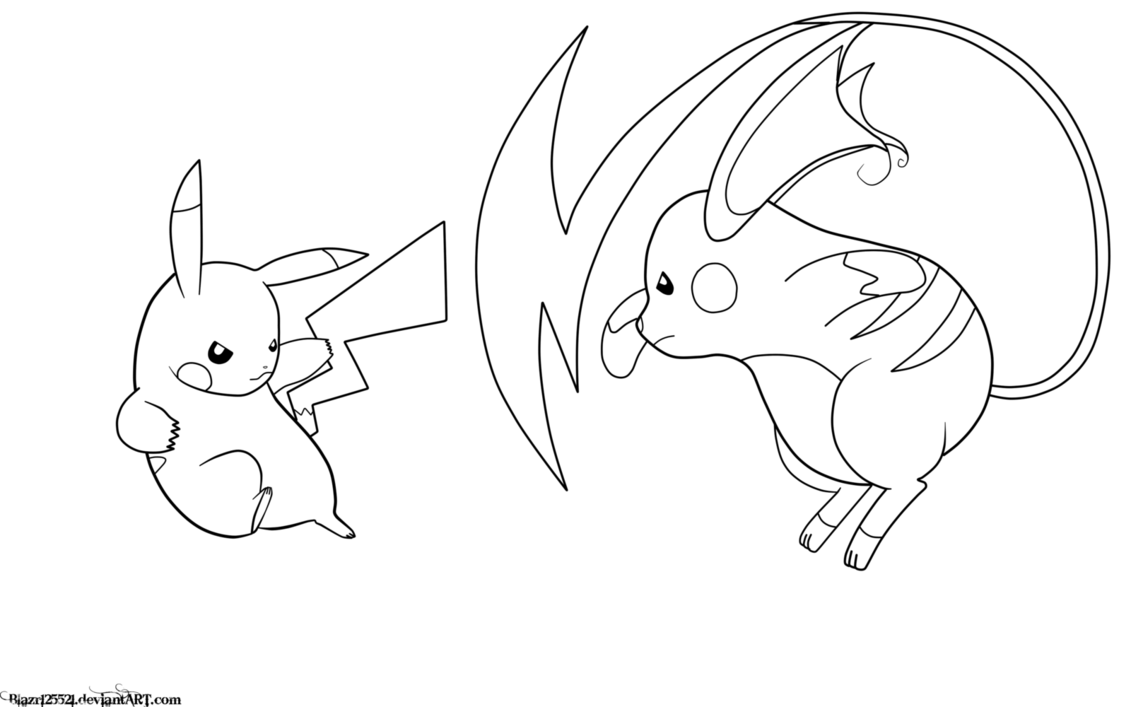 Raichu Coloring Page Bookmontenegro Me With