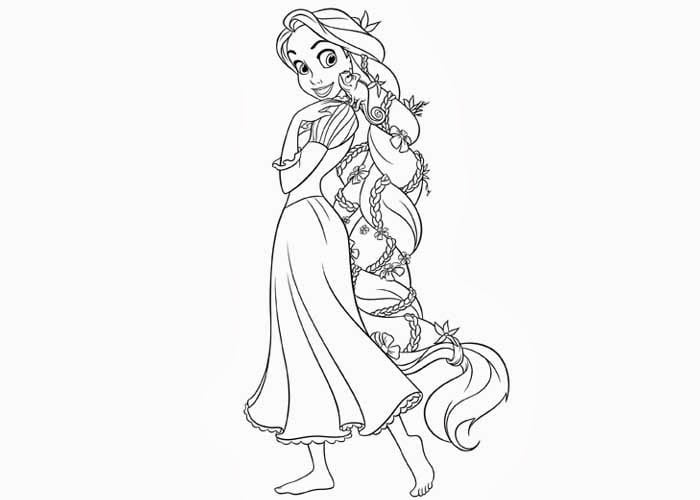 Tangled Coloring Pages On Book Info In