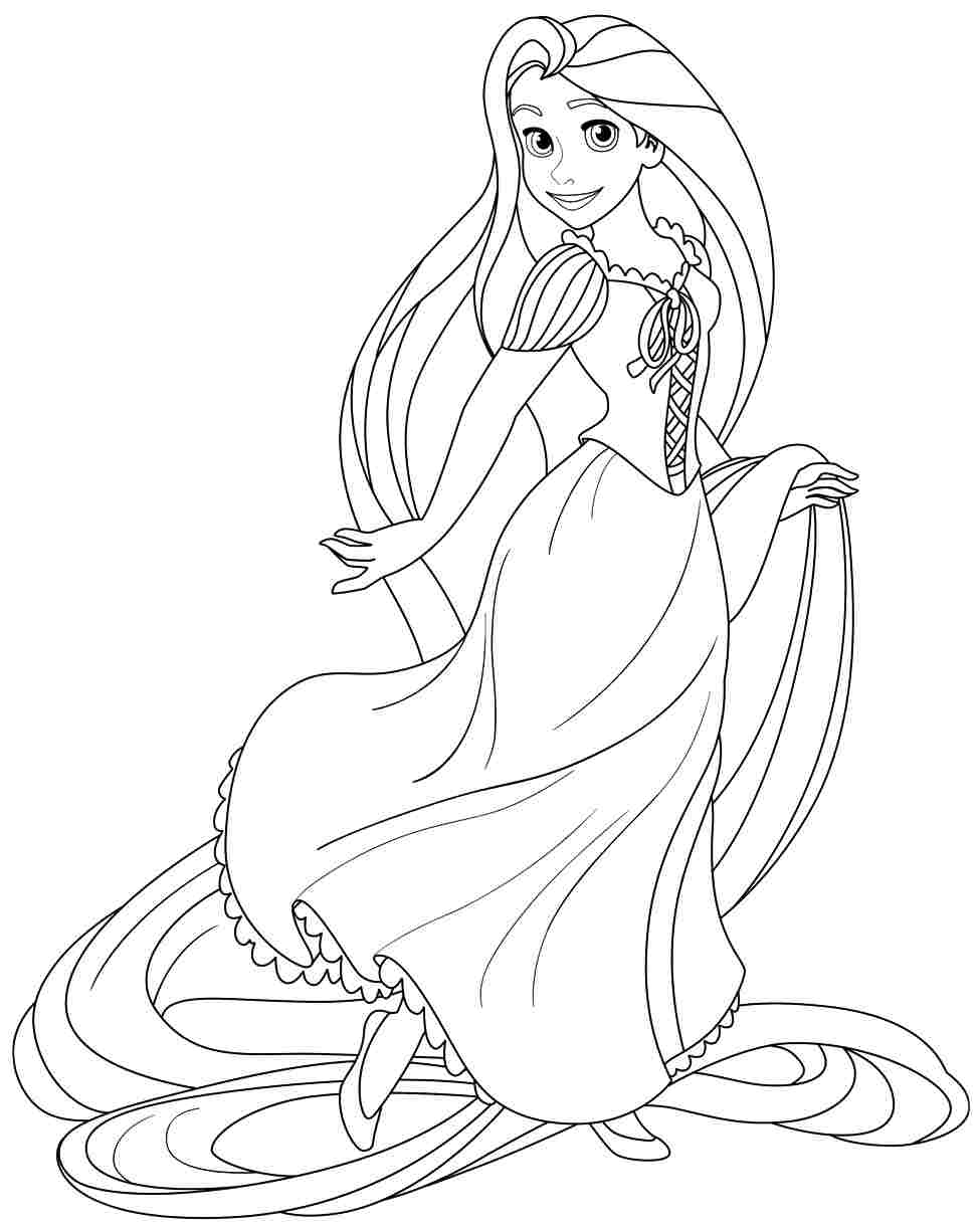 Best Rapunzel Coloring Pages To Download Free 2869 Printable