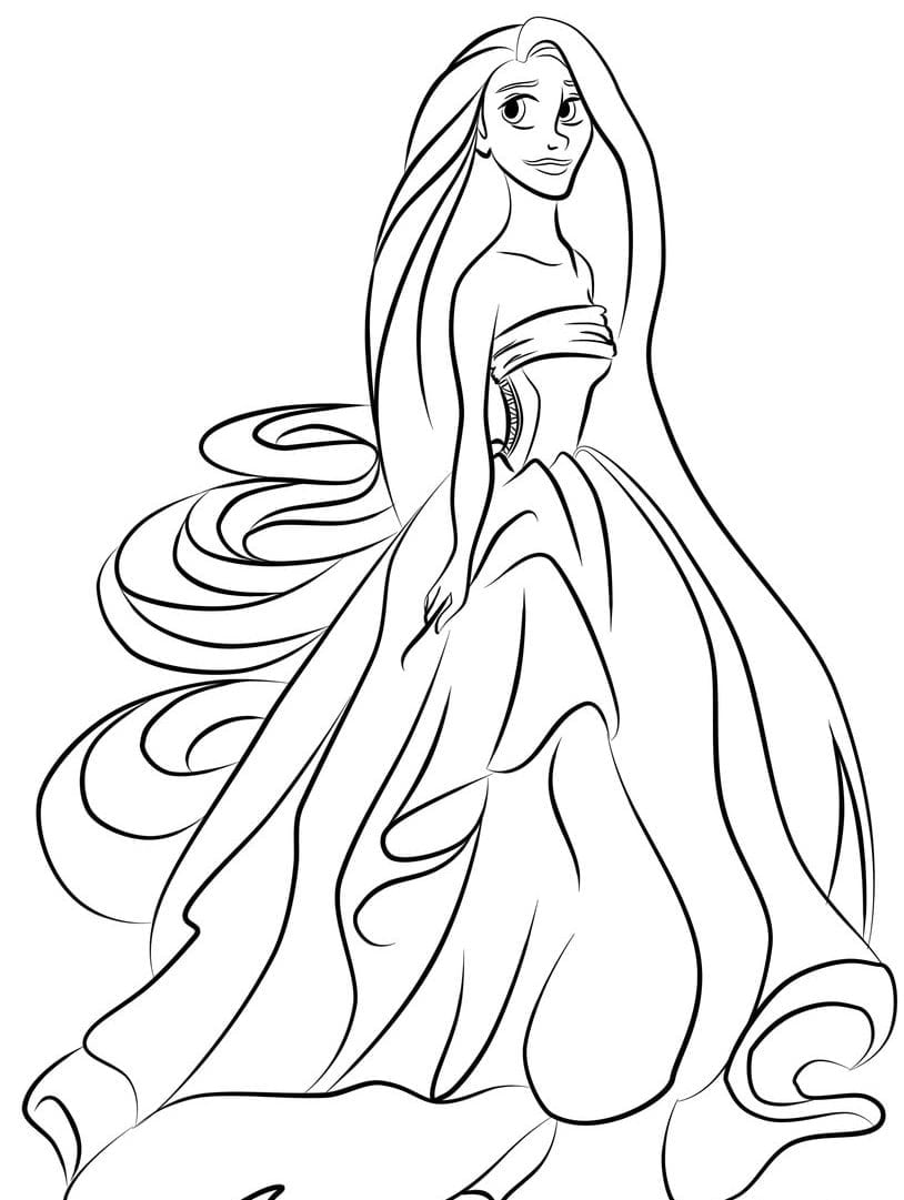 Best Rapunzel Coloring Pages To Print Free 2874 Printable