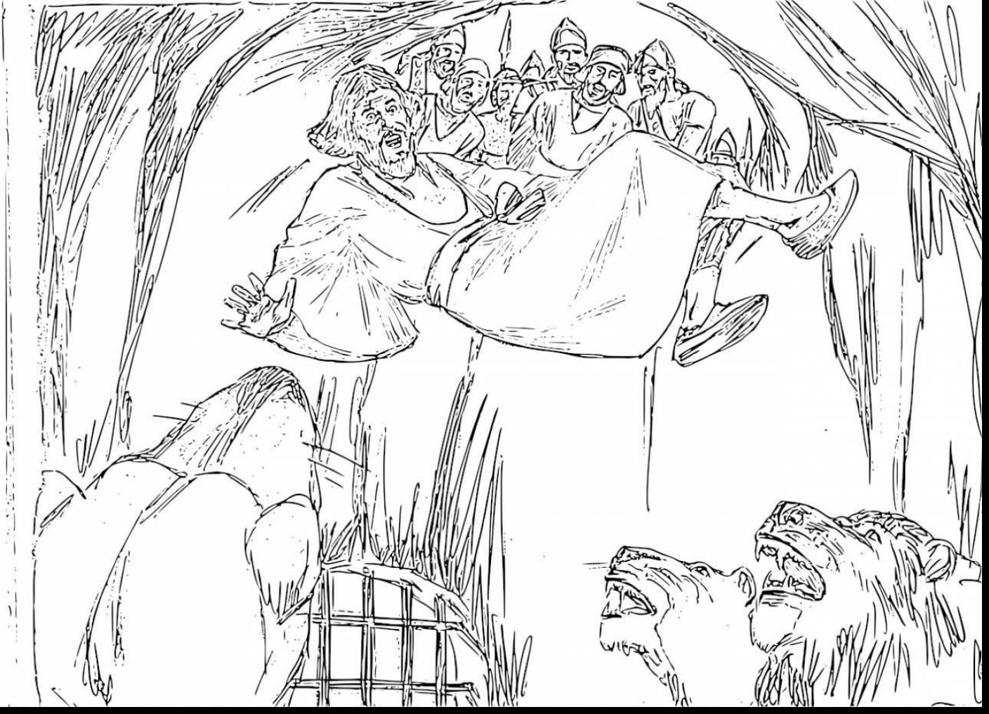 Reliable Coloring Page Of Daniel In The Lion S Den Opportunities