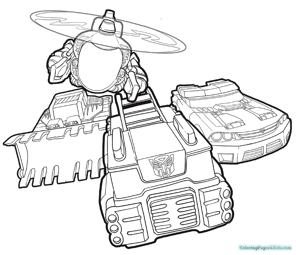 Rescue Bots Bumblebee Coloring Pages Chase
